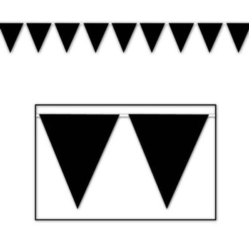 Black Pennant Flag Banner