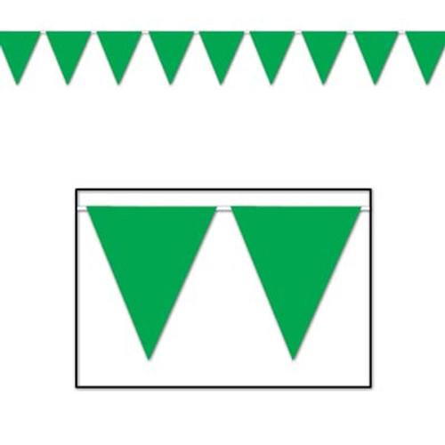 Green Pennant Flag Banner