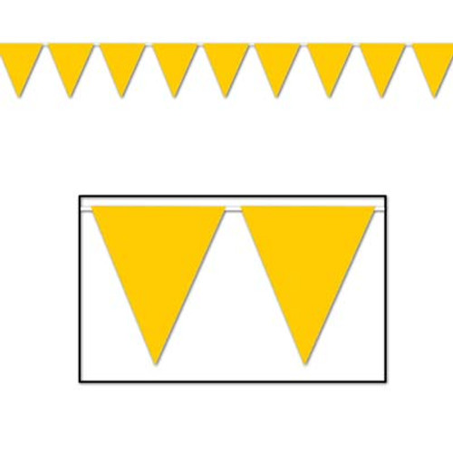 Yellow Pennant Flag Banner