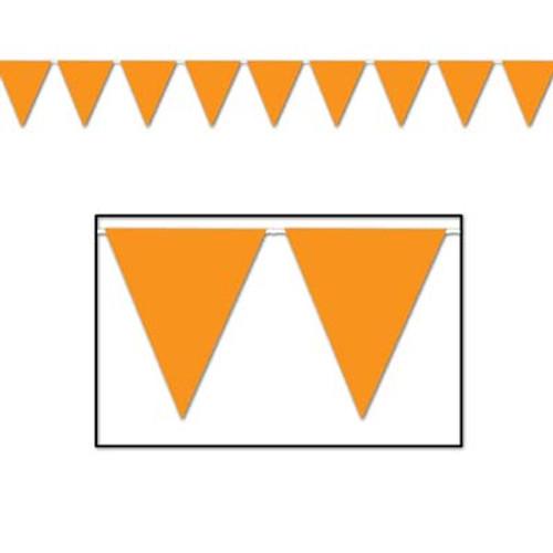 Orange Pennant Flag Banner