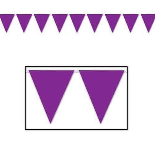 Purple Pennant Flag Banner