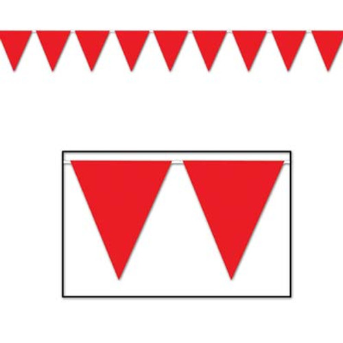 Red Pennant Flag Banner