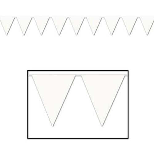 White Pennant Flag Banner