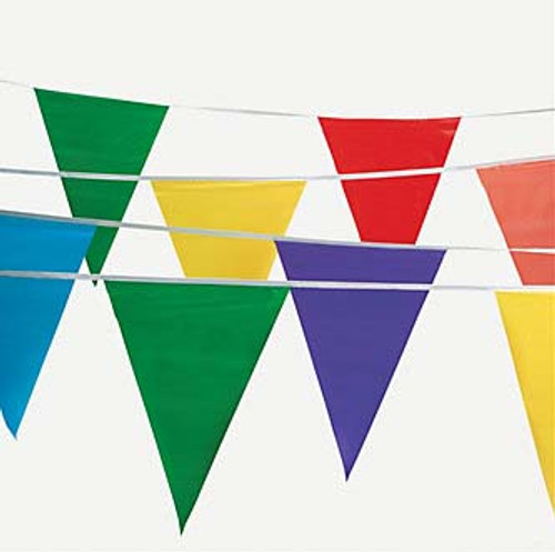 Multicolor Polyplastic Pennant Banner