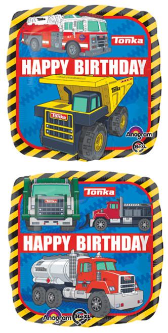 "17"" Tonka Trucks Birthday Square Balloon"
