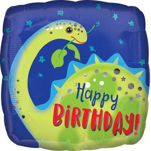 """17"""" Birthday Dino Brontosaurus Balloon"""