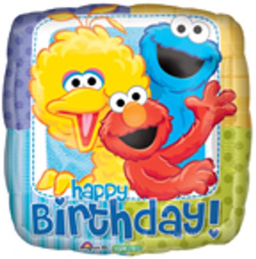 "18"" Sesame Street Birthday Square Balloon"