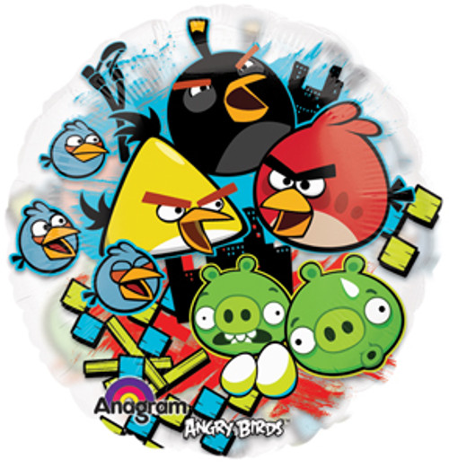 "26"" Angry Birds See Thru Balloon"