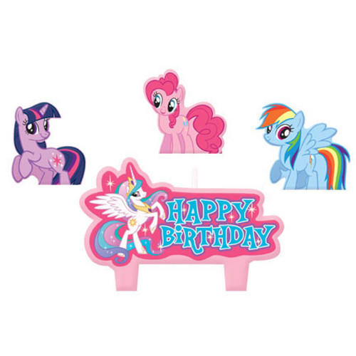 My Little Pony Friendship Molded Candle Set