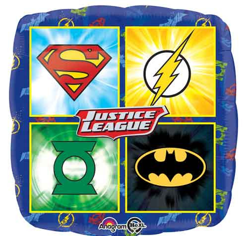 "17"" Justice League Square Balloon"