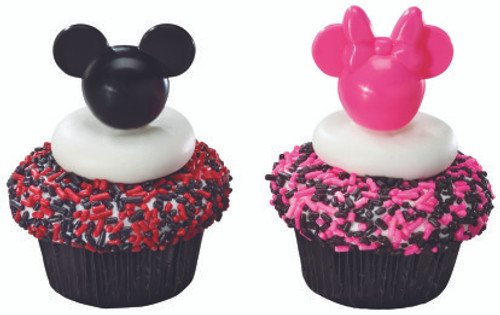Mickey & Minnie Mouse Solid Colored Cupcake Picks