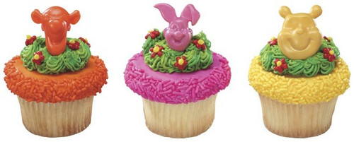 Winnie The Pooh Shaped Cupcake Rings
