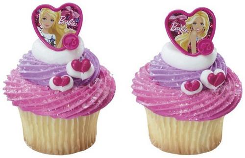 Barbie Heart Shaped Cupcake Rings