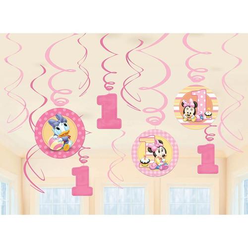 Minnie's 1st Birthday Swirl Danglers