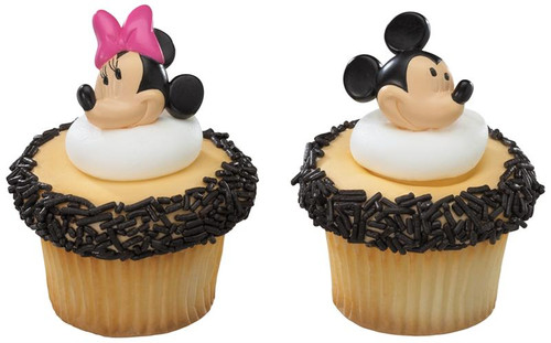 Mickey & Minnie Mouse Molded Cupcake Rings 12pcs