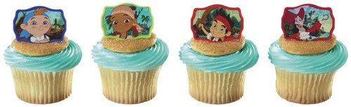 Jake & Never Land Pirates Cupcake Rings 12pcs