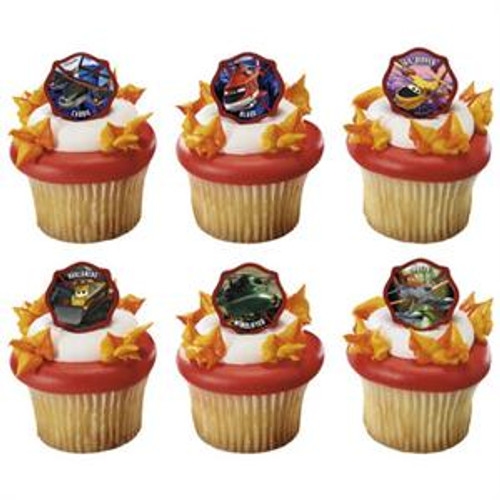 Disney Planes Fire & Rescue Cupcake Rings
