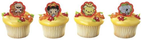 Ni Hao Kai Lan Cupcake Rings 12pcs