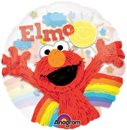 "26"" Elmo Rainbow See Thru Balloon"