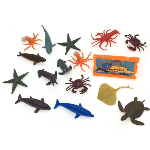Mini Sea Animals Toy Set/Bottle