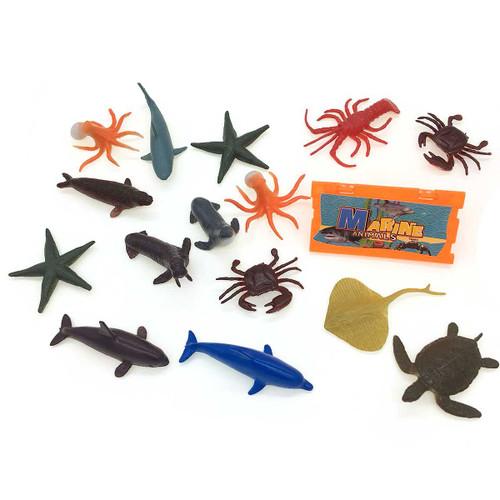 Mini Sea Animals Toy Set/Bottle