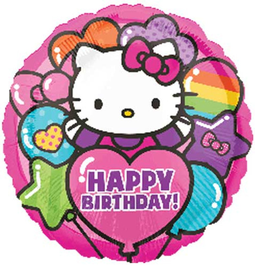 "17"" Hello Kitty Rainbow Birthday Balloon"