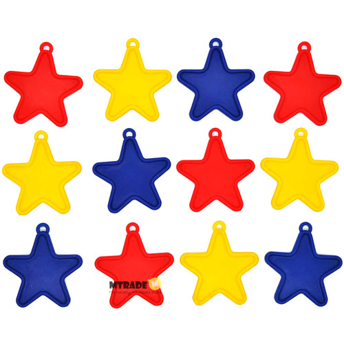 6g Primary Color Star Balloon Weight 12pcs/pack