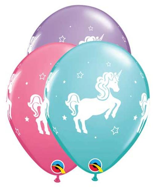 "11"" Whimsical Unicorn Latex Balloon"