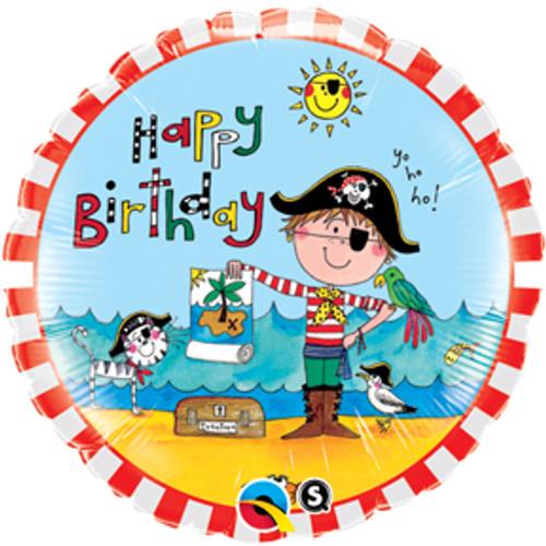 "18"" Rachel Ellen Birthday Pirate Balloon"