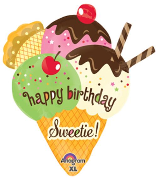 """30"""" Cherry On Top Birthday Super Shape Balloon"""