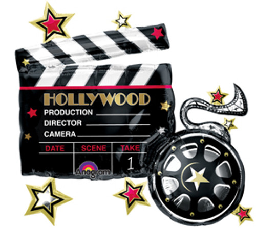 "30"" Hollywood Clapboard Super Shape Balloon"
