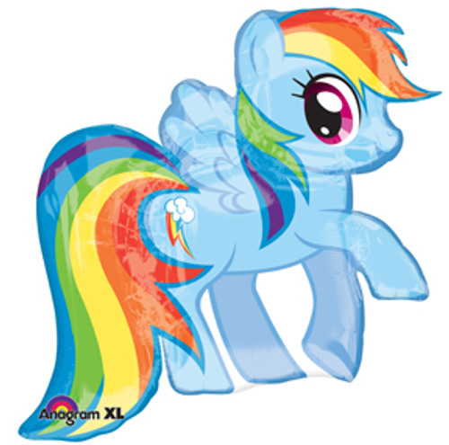 "28"" My Little Pony Friendship Rainbow Dash Super Shape Balloon"