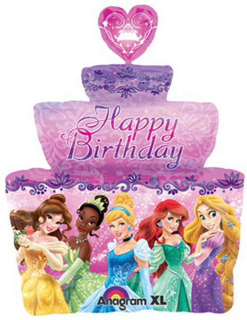 "28"" Disney Princess Birthday Cake Super Shape Balloon"