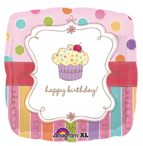 "18"" Sweet Stuff Cupcake Square Balloon"
