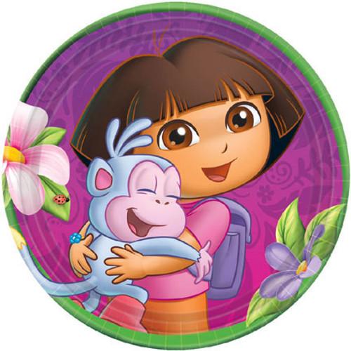 """Dora The Explorer 7"""" Dessert Plates"""