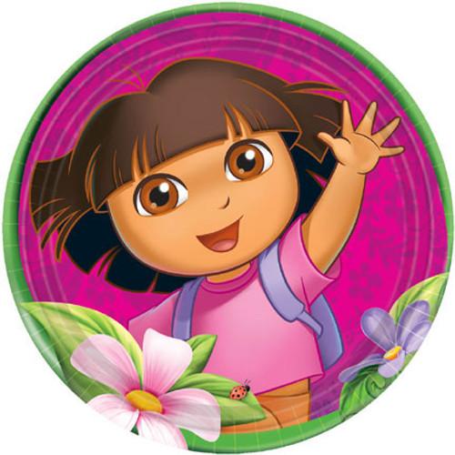 """Dora The Explorer 9"""" Dinner Plates"""