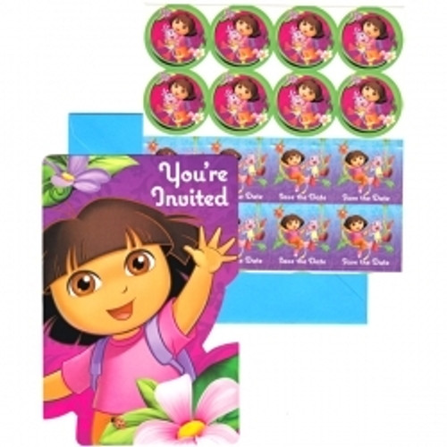 Dora The Explorer Invitation Cards & Envelopes 8pcs/pack