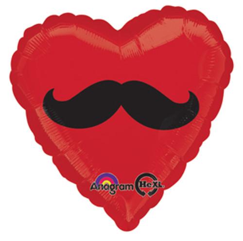 "17"" Mustache Heart Shape Balloon"
