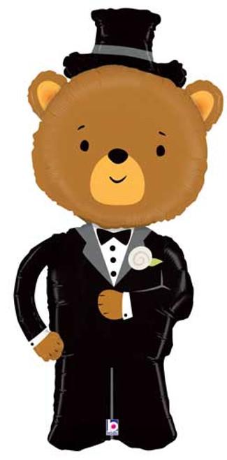 "43"" Groom Bear Linky Super Shape Balloon"