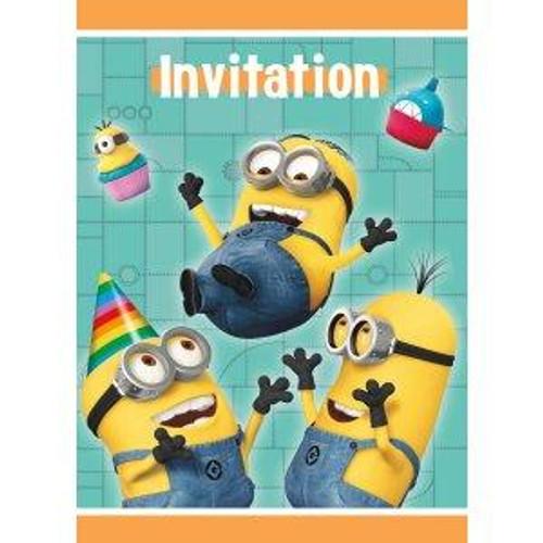 Minions Despicable Me Invitation Cards & Envelopes