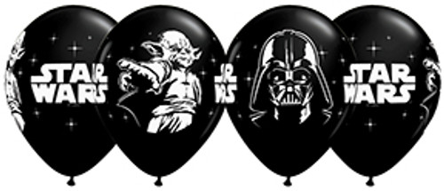 "11"" Star Wars Black Latex Balloon"
