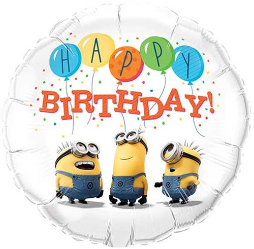 """18"""" Despicable Me Birthday Balloon"""
