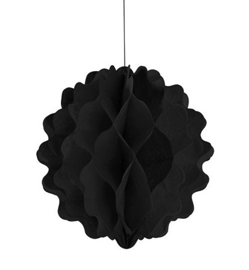 "Black Vertical 8"" Honeycomb Ball"
