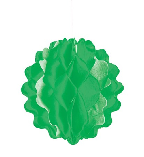 "Green Vertical 8"" Honeycomb Ball"