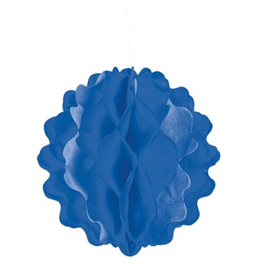 "Blue Vertical 8"" Honeycomb Ball"