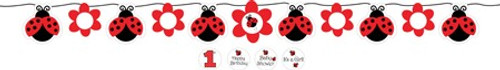 Ladybug Ribbon Banner with Stickers