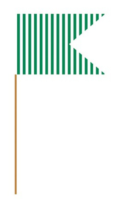 Green Stripes Mini Flag Picks
