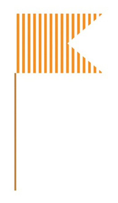 Orange Stripes Mini Flag Picks