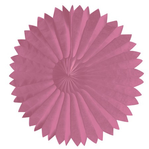 "Candy Pink 10"" Tissue Fan"