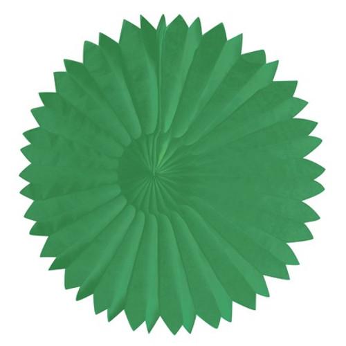 """Green 10"""" Tissue Fan"""